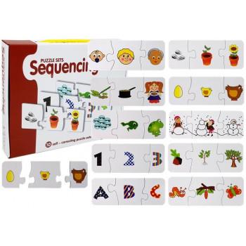 Puzzle Edukacyjne Układanka Nauka 10 Połączeń