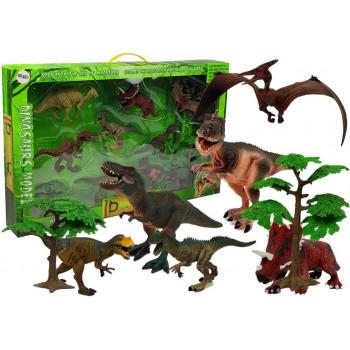 Zestaw Dinozaurów Figurki Modele 8 sztuk Akcesoria