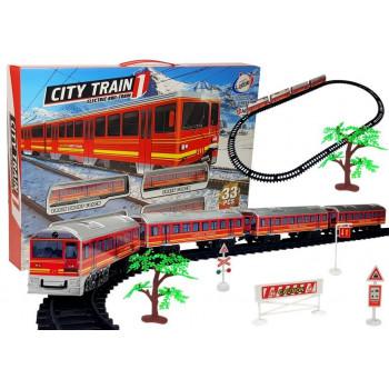 Pociąg  Kolejka Tory Na Baterie 33 Elementów