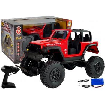 Auto Terenowe Jeep Zdalnie Sterowane 2.4G Czerwone