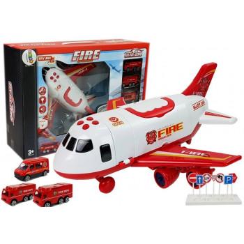 Samolot Transportowy Straż Pożarna z Naciągiem 1:64 Dźwięk Światła