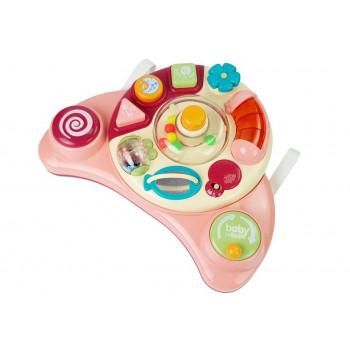 Interaktywny Panel Zabawka dla Niemowląt Muzyka Odgłosy Zwierząt Różowa