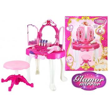Ogromna Bajkowa Toaletka Dla Księżniczki + Krzesło