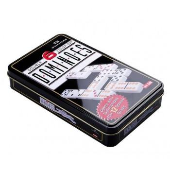 Gra Logiczna Domino Metalowe Opakowanie 28 Elementów
