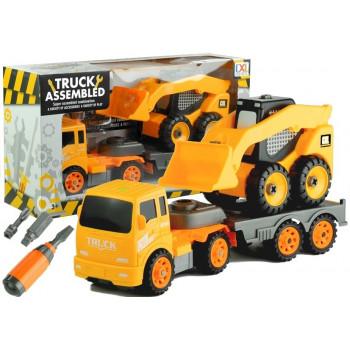 Dwa Pojazdy Budowlane Do Rozkręcania + Narzędzia