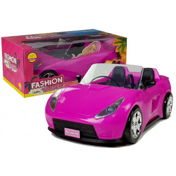 Samochód dla Lalek Różowy Cabrio 34 cm