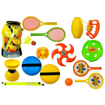 Zestaw Sportowy Rakiety Frisbee Diabolo
