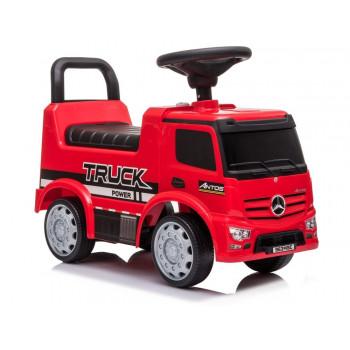 Jeździk Mercedes Antos 656 Czerwony Dźwięk Klakson Reflektory Światła