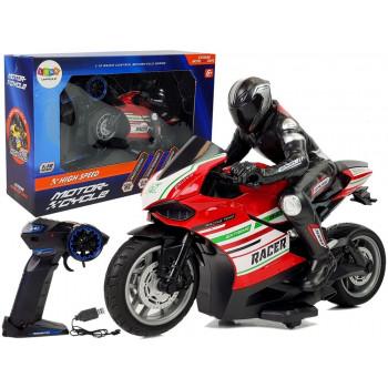 Motor Sportowy Ścigacz Zdalnie Sterowany 2.4G  Zasięg 35 m Czerwony