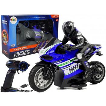 Motor Sportowy Ścigacz Zdalnie Sterowany 2.4G  Zasięg 35 m Niebieski