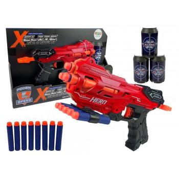 Pistolet na piankowe naboje JLX7219 czerwony