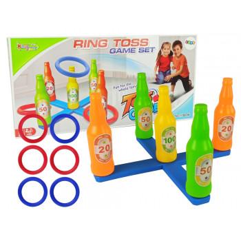 Gra Zręcznościowa Rzut Obręczą Kolorowe Butelki Punkty