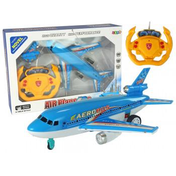 Samolot Zdalnie Sterowany Niebieski Pilot 40 Mhz Światła