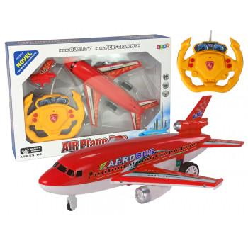 Samolot Zdalnie Sterowany Czerwony Pilot 40 Mhz Światła