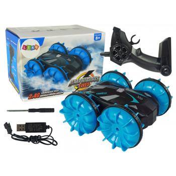 Amfibia Dwustronna Zdalnie Sterowana Niebieska 2,4G