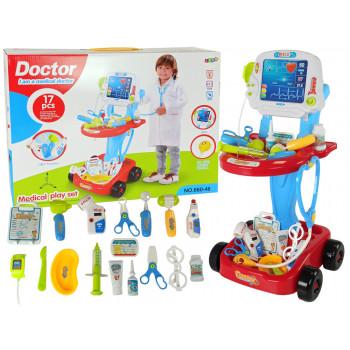 Zestaw Lekarski na Wózku Doktor 17 Elementów EKG