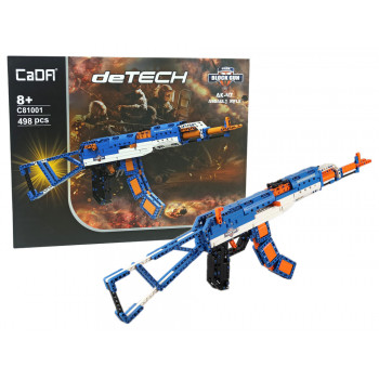 Karabin Assault Rifle AK-47 z Klocków CADA 498 Elementów