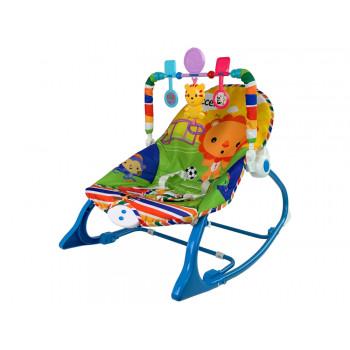 Kołyska Bujaczek Fotelik Krzesełko 2w1 Niebieski Tygrysa Dźwięki Wibracja