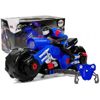 Motor Drift Zdalnie Sterowany Niebieski Na Baterie 1:10 2,4 GHz