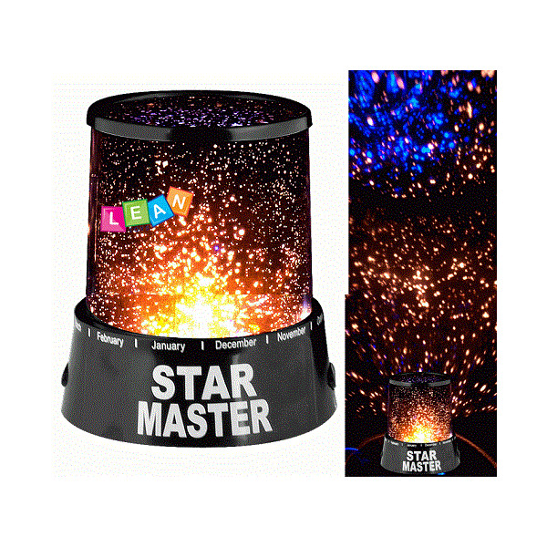 Projektor rzutnik planet lampka nocna na baterie