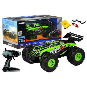 Auto Monster Zdalnie Sterowany Zielony 15km/h 2,4 G