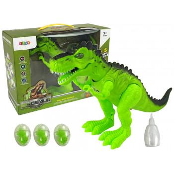 Interaktywny Dinozaur Projektor Dźwięki Chodzi na Baterie Składa Jaja Para