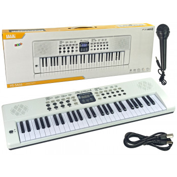 Keyboard Pianinko 54 Klawisze z Mikrofonem 200 Rytmów Tonów
