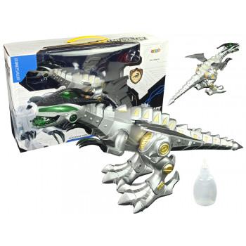 Interaktywny Dinozaur Robot 50 cm Długości Para Wodna Światła Dźwięk
