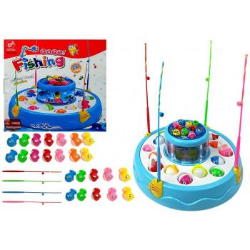 Gra łowienie rybek światło dźwięk 2 poziomy Rybki Niebieska
