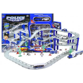 Duży Tor Samochodowy Policja 10 pojazdów 495cm