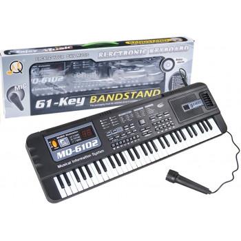 Keyboard MQ-6102 61 Klawiszy Mikrofon Do Nauki