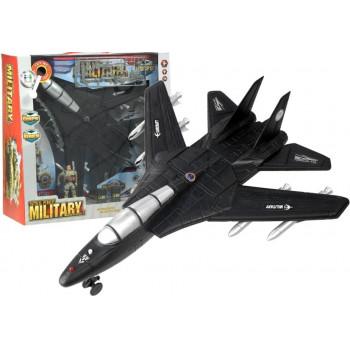 Odrzutowiec Samolot Wojskowy Myśliwiec Świeci Gra
