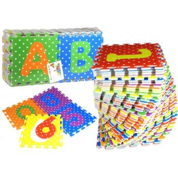 Puzzle Piankowe Kolorowe Alfabet i Cyferki 36 elementów