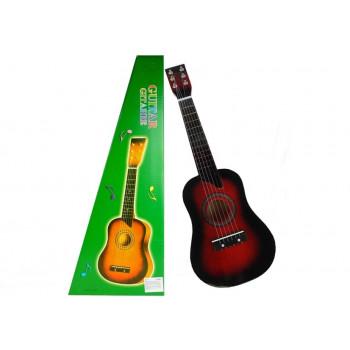 Gitara Drewniana Klasyczna z Kostką Wiśniowa 60 cm