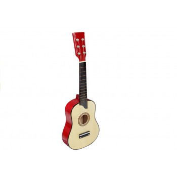 Gitara Drewniana z Kostką Kremowa