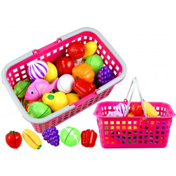 Koszyk z Owocami i Warzywami Na Rzepy Do Krojenia