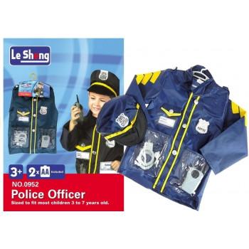 Strój Przebranie Policjanta + Akcesoria Odznaka