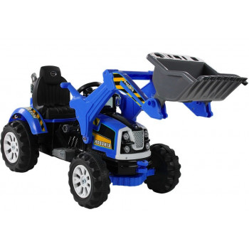 Traktor na akumulator z Łyżką Koparka Niebieski