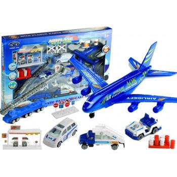 Duży Zestaw Lotnisko Samolot 1:87 30 Elementów