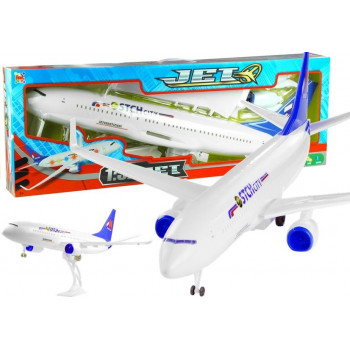 Duży Samolot Pasażerski 1:52 Napęd Dźwięk Światła 78 cm