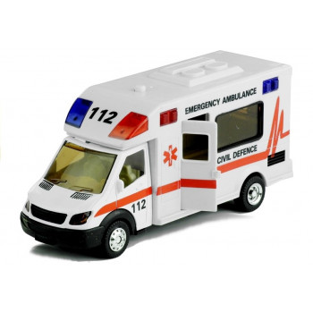 Ambulans Karetka Pogotowie Jeździ Gra Świeci 1:48