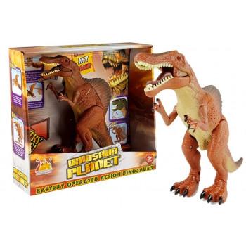 Duży Dinozaur Na Baterie Ryczy Tyranozaur