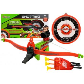 Kusza na strzałki z tarczą i przyssawkami