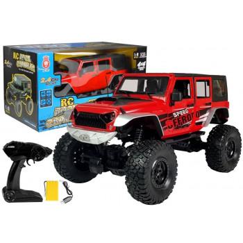 Auto Zdalnie Sterowane Jeep Gigant 20 km/h 1:8 Czerwone