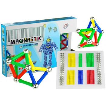 Zestaw Klocków Magnetycznych 136 Element Magnastix