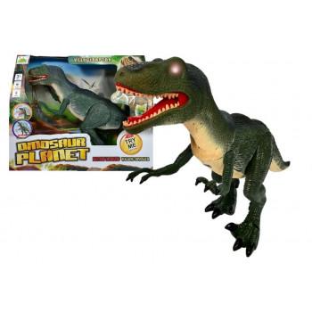 Dinozaur Velociraptor Porusza się Ryczy Świeci